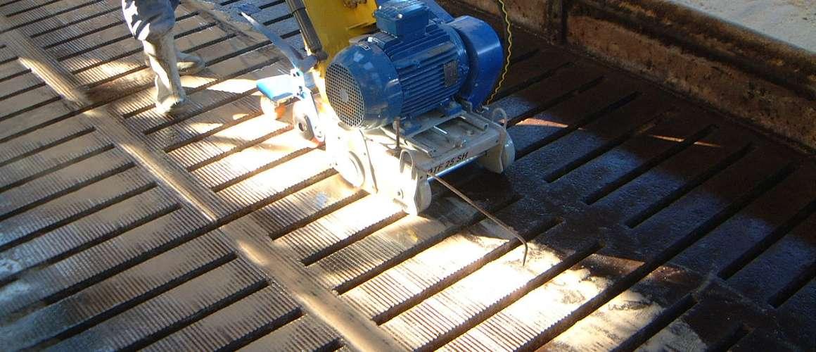 Opruwen beton in stal - Betonboringen- en Zaagbedrijf K. Wijma BV